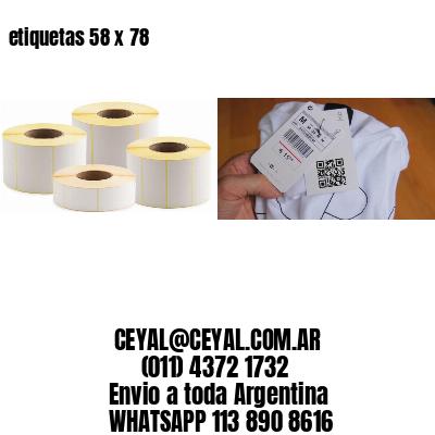 etiquetas 58 x 78