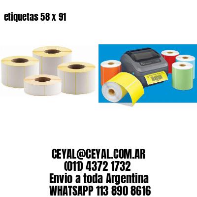 etiquetas 58 x 91