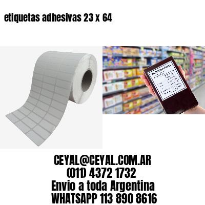 etiquetas adhesivas 23 x 64