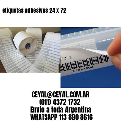 etiquetas adhesivas 24 x 72