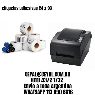 etiquetas adhesivas 24 x 93