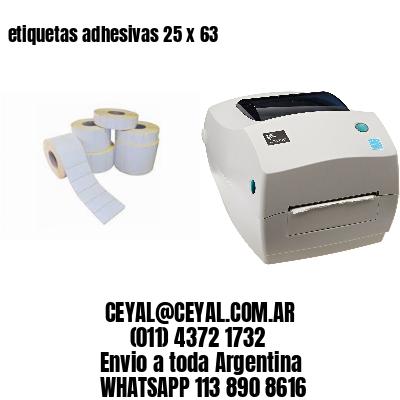 etiquetas adhesivas 25 x 63