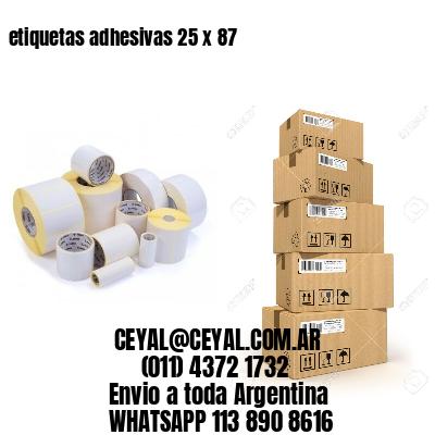 etiquetas adhesivas 25 x 87
