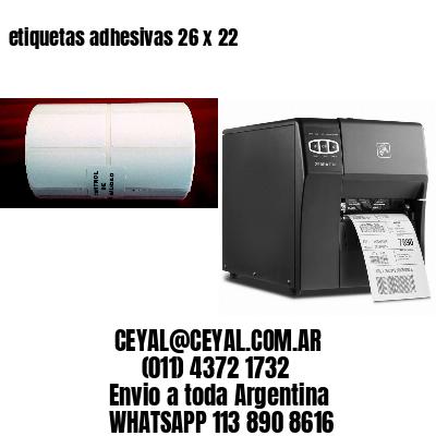 etiquetas adhesivas 26 x 22