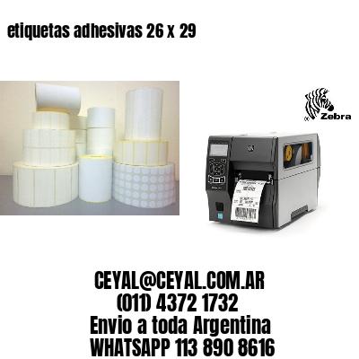 etiquetas adhesivas 26 x 29