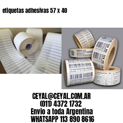 etiquetas adhesivas 57 x 40