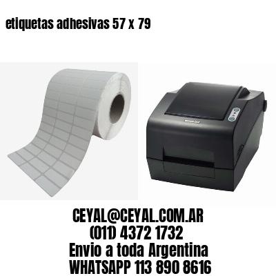 etiquetas adhesivas 57 x 79