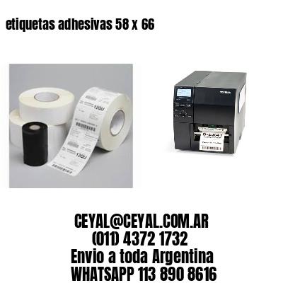 etiquetas adhesivas 58 x 66