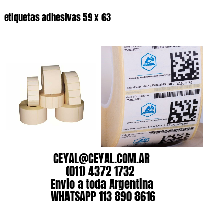 etiquetas adhesivas 59 x 63
