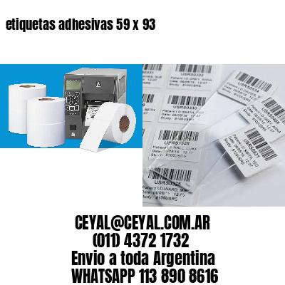 etiquetas adhesivas 59 x 93