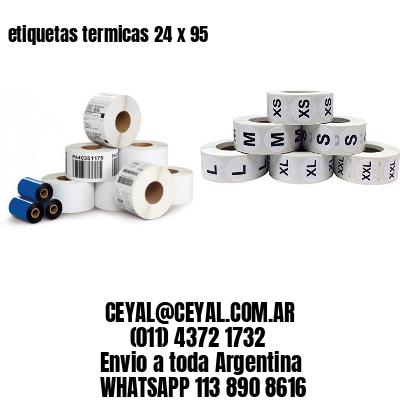 etiquetas termicas 24 x 95
