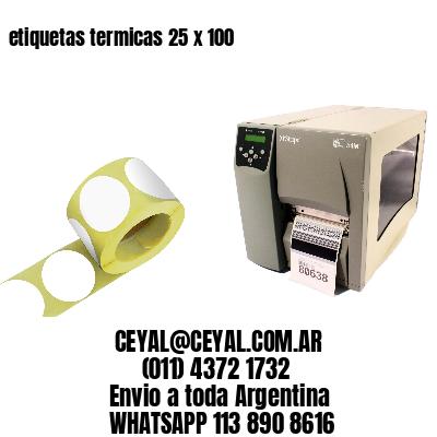 etiquetas termicas 25 x 100