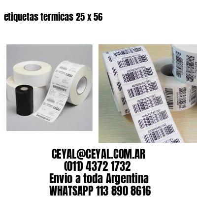 etiquetas termicas 25 x 56