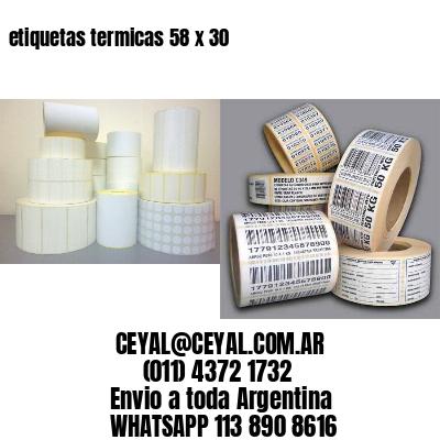 etiquetas termicas 58 x 30