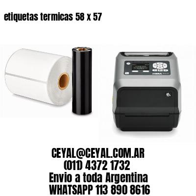 etiquetas termicas 58 x 57