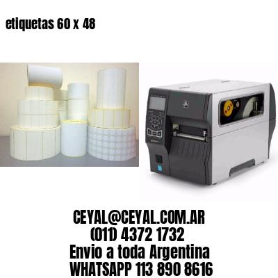 etiquetas 60 x 48