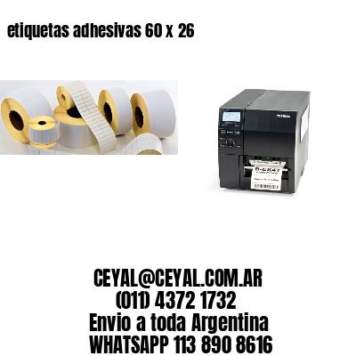 etiquetas adhesivas 60 x 26