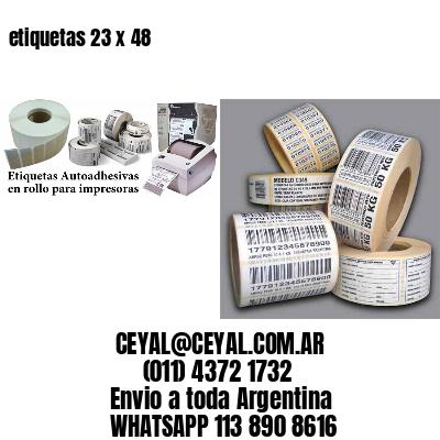 etiquetas 23 x 48
