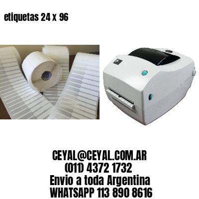 etiquetas 24 x 96