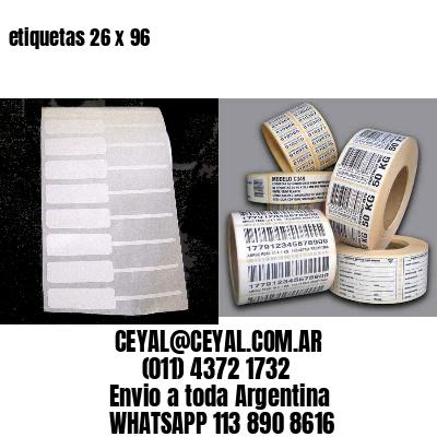 etiquetas 26 x 96