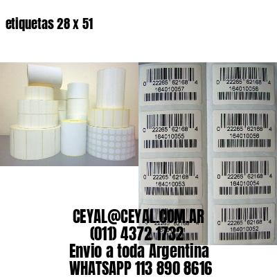 etiquetas 28 x 51