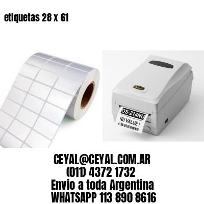 etiquetas 28 x 61