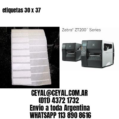 etiquetas 30 x 37