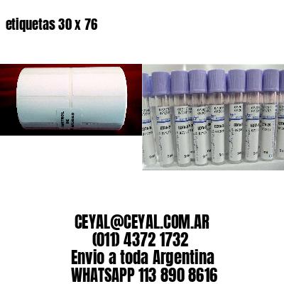 etiquetas 30 x 76