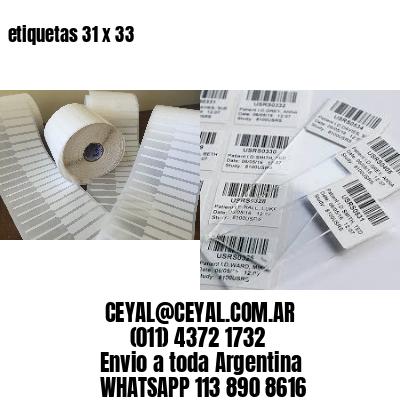 etiquetas 31 x 33