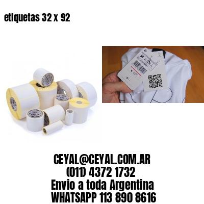 etiquetas 32 x 92