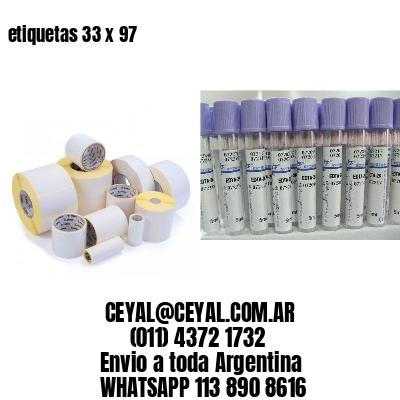 etiquetas 33 x 97