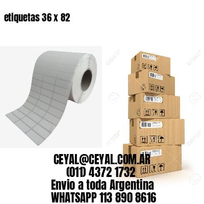 etiquetas 36 x 82