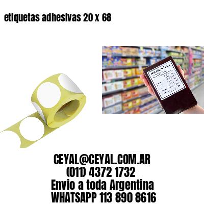etiquetas adhesivas 20 x 68