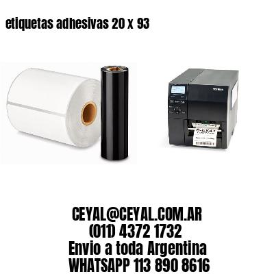etiquetas adhesivas 20 x 93