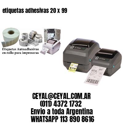 etiquetas adhesivas 20 x 99