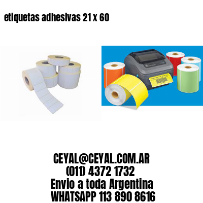 etiquetas adhesivas 21 x 60