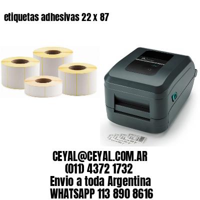 etiquetas adhesivas 22 x 87