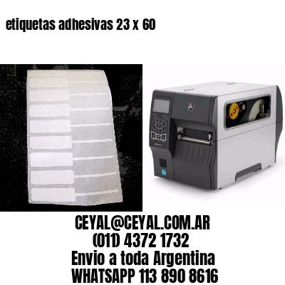 etiquetas adhesivas 23 x 60