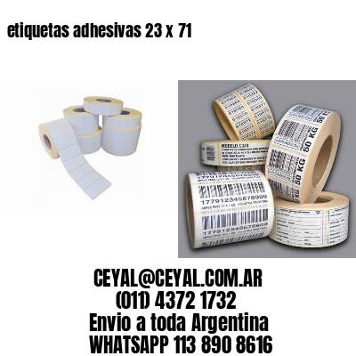 etiquetas adhesivas 23 x 71