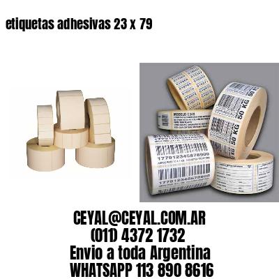etiquetas adhesivas 23 x 79