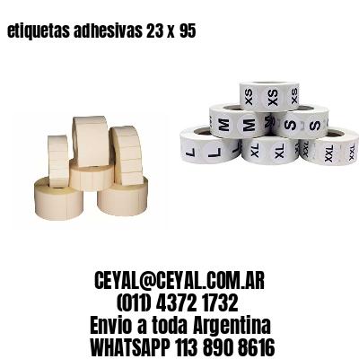 etiquetas adhesivas 23 x 95