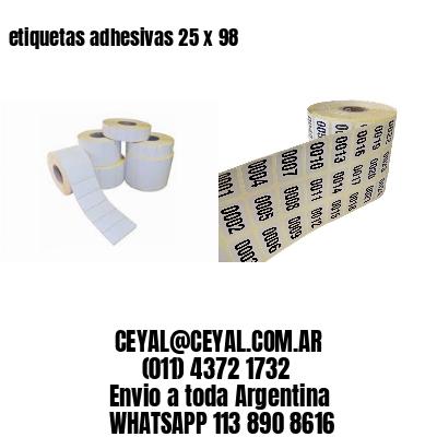 etiquetas adhesivas 25 x 98