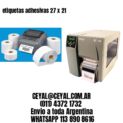 etiquetas adhesivas 27 x 21