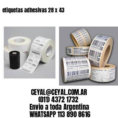 etiquetas adhesivas 28 x 43