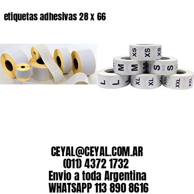 etiquetas adhesivas 28 x 66