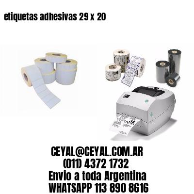 etiquetas adhesivas 29 x 20