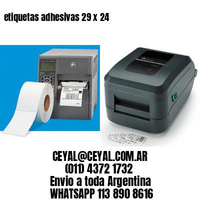 etiquetas adhesivas 29 x 24