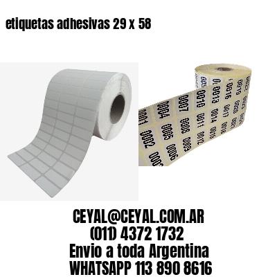etiquetas adhesivas 29 x 58