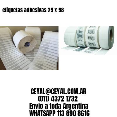 etiquetas adhesivas 29 x 98