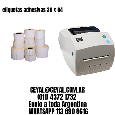etiquetas adhesivas 30 x 64